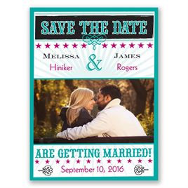 Star Studded - Peacock - Save the Date Magnet