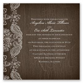 Rustic Lace - Invitation