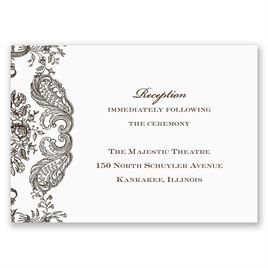 Rustic Lace - Reception Card