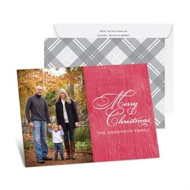 Country Appeal - Barn Red - Petite Photo Holiday Card