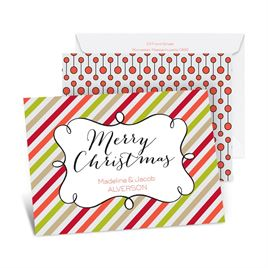 Candy Stripes Christmas - Tango - Petite Holiday Card