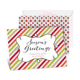 Candy Stripes Season - Tango - Petite Holiday Card