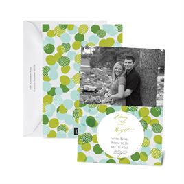 Bright Bubbles - Aqua - Photo Holiday Card
