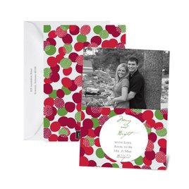 Bright Bubbles - Merlot - Photo Holiday Card