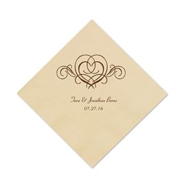 Taupe Cocktail Napkin