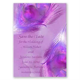 Watercolor Peacock - Grapevine - Save the Date Magnet