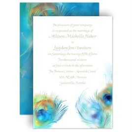Find your peacock wedding invitations at Invitations by Dawn. We offer a huge variety of peacock feather designs to fit your unique sense of style.
