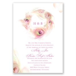 Peacock Whimsy - Cotton Candy - Invitation