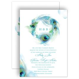 peacock invitations