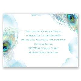 Peacock Whimsy - Peacock - Reception Card