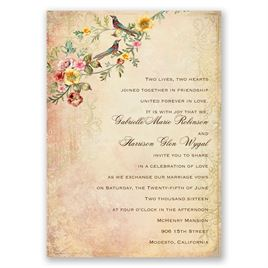 Vintage Birds Invitation