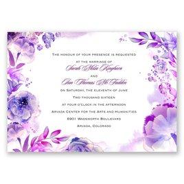 Watercolor Dream - Grapevine - Invitation