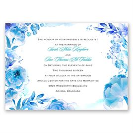 Watercolor Dream - Palm - Invitation