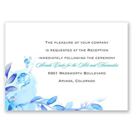 Watercolor Dream - Palm - Reception Card