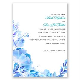 Watercolor Dream - Palm - Save the Date Card