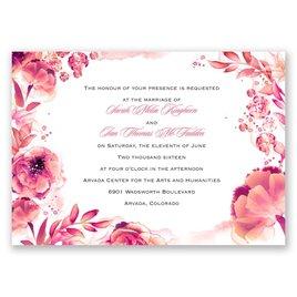 Watercolor Dream - Posie Pink - Invitation