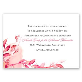 Watercolor Dream - Posie Pink - Reception Card