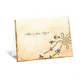 Vintage Thank You Cards: Antique Book Note Card and Envelope