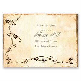 Antique Book - Reception Card