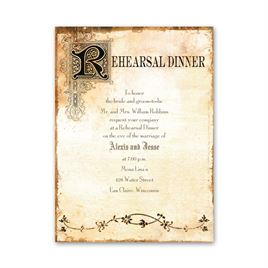 Antique Book - Petite Rehearsal Dinner Invitation