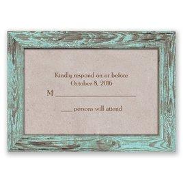 Wedding Response Cards: Rustic Frame - Response Card