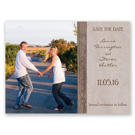 Rustic Frame - Bark - Save the Date Card