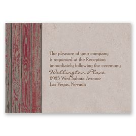 Rustic Frame - Barn Red - Reception Card