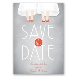 Dancing Shoes - Mrs. and Mrs. - Save the Date Card
