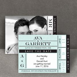 Ticket to Love - Save the Date Card