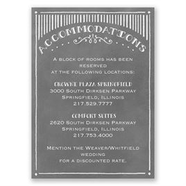 Chalkboard Sketch - Accommodations Card