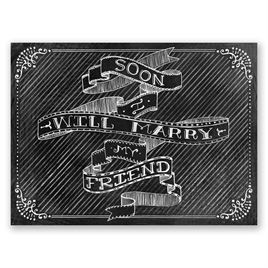 Chalkboard Sketch - Save the Date Card