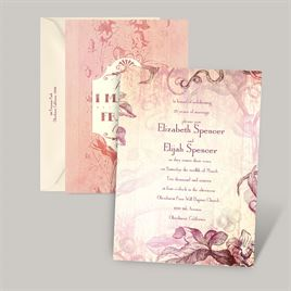 Antique Charm - Cotton Candy - Vow Renewal Invitation