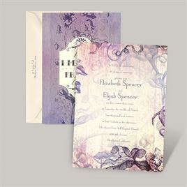 Antique Charm - Lavender - Vow Renewal Invitation