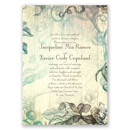 Antique Charm - Surf - Invitation