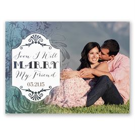 Antique Charm - Surf - Save the Date Card
