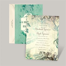 Antique Charm - Surf - Vow Renewal Invitation