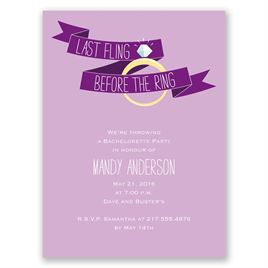 Before the Ring - Freesia - Bachelorette Party Invitation