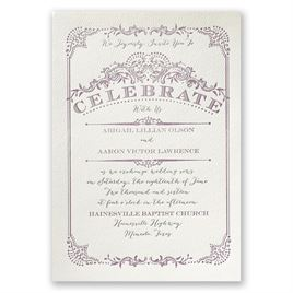 Affordable Letterpress Wedding Invitations: 