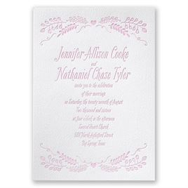 Natural Love - White - Featherpress Invitation
