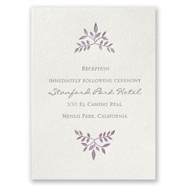 Forever Joined - Ecru - Featherpress Reception Card