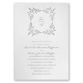 Forever Joined - White - Featherpress Invitation