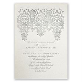 Chandelier Lace - Ecru - Featherpress Invitation