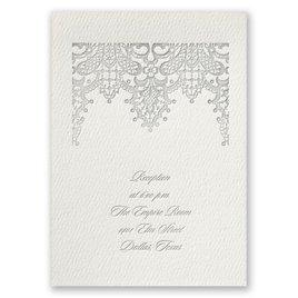 Chandelier Lace - Ecru - Featherpress Reception Card