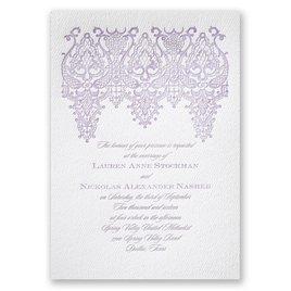 Chandelier Lace - White - Featherpress Invitation