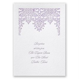 Chandelier Lace - White - Featherpress Reception Card