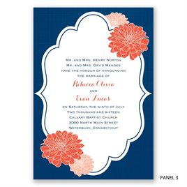 Peeking Flowers - Invitation