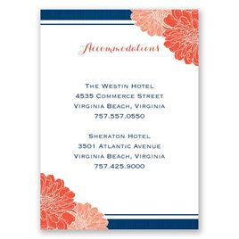 Peeking Flowers - Accommodations Card