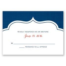 Peeking Flowers - Response Card and Envelope