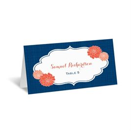 Peeking Flowers - Escort Card