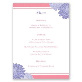 Peeking Flowers - Menu Card